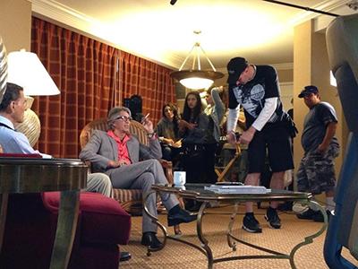 Independent Film set with Eric Roberts